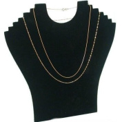 6-Tier Black Necklace Chain Holder Plastic Bust Display