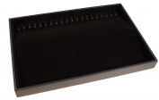 Black Velvet Jewellery Display Tray with 20 Hooks Is Perfect for Bracelets Necklace Organiser -Stackable