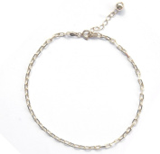 Sterling Silver 25.4cm Anchor Chain Link Anklet with Extension- Ankle Bracelet for Women