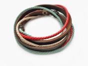 Fashion Adjustable Fashion Multilayer Weaved Leather Cotton Rope Wrap Bracelet Friendship Gift Sl2201