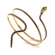 Antique Gold Snake Armlet Bangle