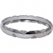 Womens Costume Jewellery Rodium Plated Bangle Bracelets in Indian-Style 5.8cm