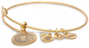 "Alex and Ani Bangle Bar ""Eye of Horus"" Yellow-Gold Bracelet"