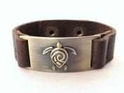 Turtle Leather Bracelet, Adjustable