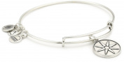 "Alex and Ani Bangle Bar ""Star of Venus"" Russian-Silver Expandable Bracelet"