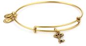 "Alex and Ani Bangle Bar ""Skeleton Key"" Gold-Colour Charm Bracelet"