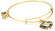 "Alex and Ani ""Bangle Bar"" Russian-Gold Crab Expandable Bracelet"