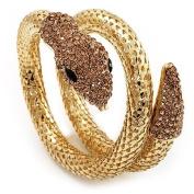 Dazzling Coil Flex Snake Bangle Bracelet
