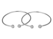 Textured Ball .925 Sterling Silver West Indian Bangles