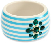 """Juicy Couture """"A Trip To Bountiful"""" Blue Large Striped Bracelet"""