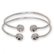 Drum Ends .925 Sterling Silver West Indian Bangles