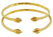 Baby Solid Sterling Silver West-Indian Bangle Set Plated with 14K Gold