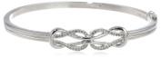 Sterling Silver Diamond Double-Knot Bangle Bracelet