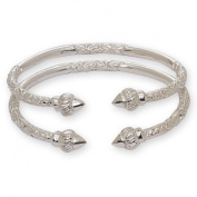 Ridged Arrow .925 Sterling Silver West Indian Bangles