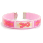 Breast Cancer Cuff Bracelet Pink Ribbons - Find the Cure