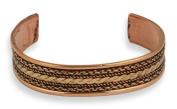 Pizazz Tricolour Copper Braid Cuff Bracelet