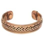Magnetic Copper Cuff Bracelet Adjustable 17mm Wide