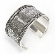 Metal Impression Cuff Bracelet