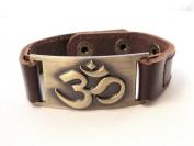 Om Bracelet, Leather, Adjustable