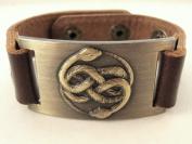 Snake Bracelet, Leather, Adjustable