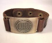 Fortune Seal of Solomon Bracelet, Leather, Adjustable