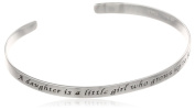 "Sterling Silver ""A Daughter Is A Little Girl Who Grows Up To Be A Friend"" Cuff Bracelet"