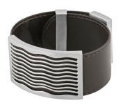 Aqua Pu Leather Bracelet - Stainless Steel - 9.5'' Length