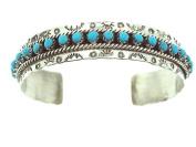 Beautiful! By Zuni Artist JP Ukestine Sterling-silver Turquoise Women's Bracelet
