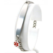 Medical ID Information Bracelet Stainless Steel 17.8cm