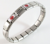 Low Platelets Medical ID Alert Italian Charm Bracelet