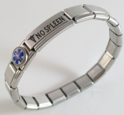 No Spleen Medical ID Alert Italian Charm Bracelet