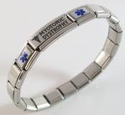 Myotonic Dystrophy Medical ID Alert Italian Charm Bracelet