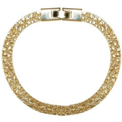 18.7cm X 0.6cm Gold Plated Nugget Bracelet, Made in Usa, in Gold