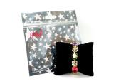 Elegant Goldtone Multi Colour and 6mm Clear Crystal Bracelet Fashion Jewellery