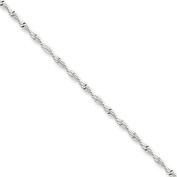 Sterling Silver 2mm Twisted Herringbone Chain, Size 7