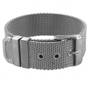 Inox Women's Mesh Bracelet Belt-Like Opening Technique