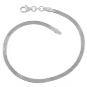 Sterling Silver 2.8-mm Herringbone Chain Bracelet