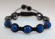 Tibetan Bead String Bracelet BS653 ball, 11mm 7in