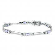 Studio 925 Michelle Lavender and White CZ Sterling Silver Bracelet