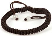 Luos Handmade Brown String Bracelet with 2 Jade Beads- St025