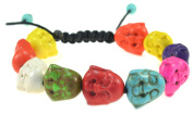 Mixed Colours Howlite Turquoise Buddha Bracelet - Good for Healing and Protection - 91068