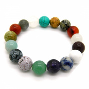 Pearlz Ocean Multi Gemstone Stretch Bracelet 20.3cm