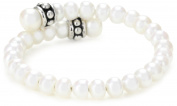 "Honora ""Pallini"" White Freshwater Cultured Pearl Coil Cuff Bracelet"