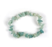 . 1 Natural Amazonite Crystal Healing Chip Gemstone 17.8cm Stretch Bracelet.