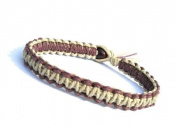 Brown and Natural Surfer Hawaiian Style Hemp Bracelet - Handmade