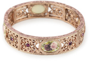 1928 Jewellery Manor House Victorian Rose Gold-Tone Bracelet