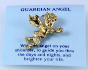 6030102 Guardian Angel Lapel Pin Brooch Tack Pin Christian Religious Jewellery