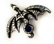 Glider Dragon Pin with Blue. Crystal