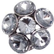 MERCEDE Silver Crystal Scarf Clip