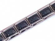 Black Shimmer Italian Charm Bracelet